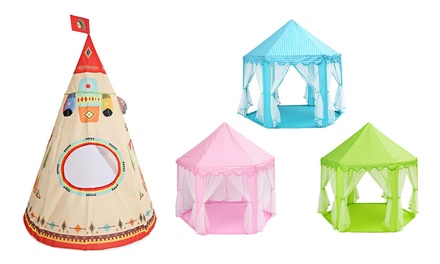 Kids' Play Tent: Indian Castle ($49) or Princess Castle ($59)