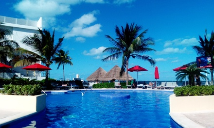 All-Inclusive Stay for Two with Meals, Drinks, WiFi, and Activities at Cancun Bay Resort in Mexico. Dates into December.