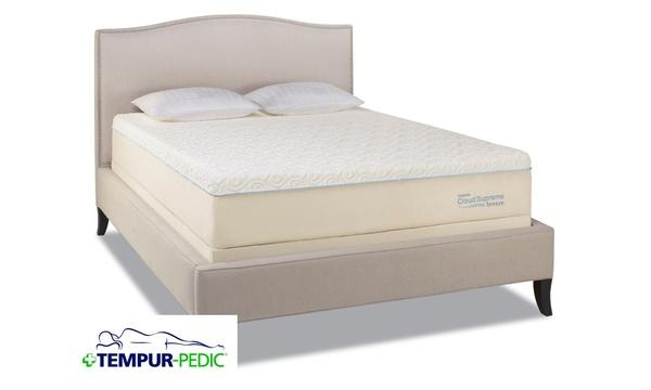 quite nice fa3a9 47e72 Tempur-Pedic Cloud Supreme Breeze 1.0 Mattress & Adjustable ...