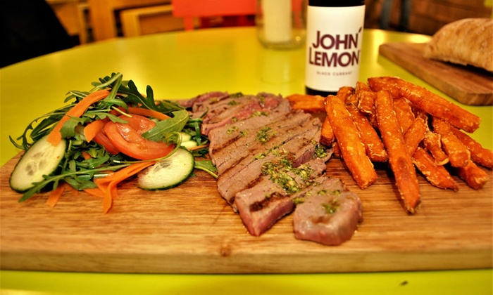 Los Pibes Argentine Grill - Mercato Metropolitano: Steak with Chips and Drink for One or Two at Los Pibes Argentine Grill (Up to 26% Off)