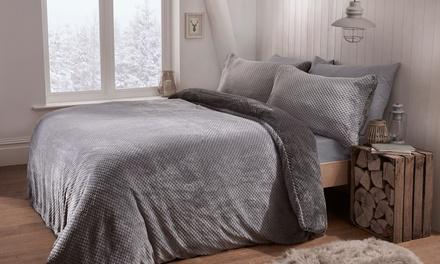 Parure de lit gaufrée, 100% polaire