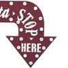Santa Stop Here LED Wall-Mounted Arrow Sign