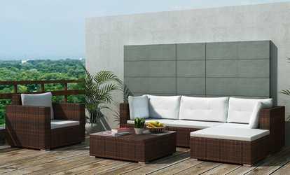 Arredamento per patio e giardino deals coupons groupon for Salottino da balcone