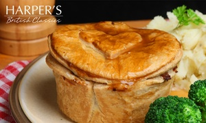 Harper's British Classics: Meal with Up to Three Sides and Drink Each for Up to Six at Harper's British Classics (Up to 39% Off)