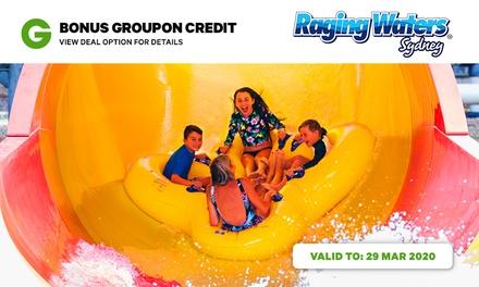 Raging Waters Sydney Groupon Credit Bundle: Day Pass + $5 Groupon Credit