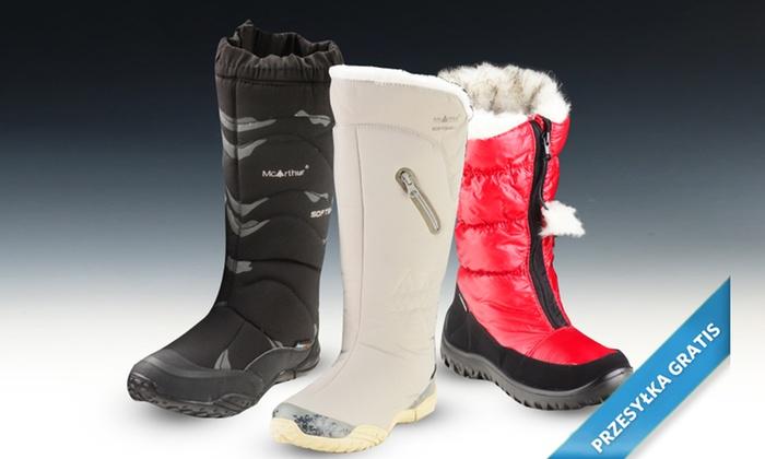 Kozaki śniegowce Damskie Mc Arthur 02 Bk