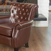 Shafford Brown Tufted Leather Club Chair