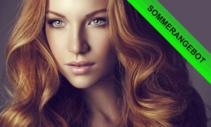 Haarcoccon Salon: Komplett-Haarschnitt mit Kopfmassage u. Lotionkur, opt. mit Farbe od. Strähnen, im Haarcoccon Salon (bis zu 61% sparen*)
