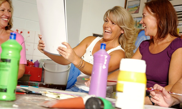 U'Paint N'Party - Greenwood: On-Location Painting Party for One, Two, or Up to Seven from U'Paint N'Party (62% Off)