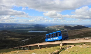CairnGorm Mountain: Railway Pass, CairnGorm Mountain with Optional Meal and Hot Drink for Two or Four at  (Up to 58% Off*)