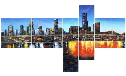 Single- and Multipanel Cityscape Art on Gallery-Wrapped Canvas from $39.99–$89.99