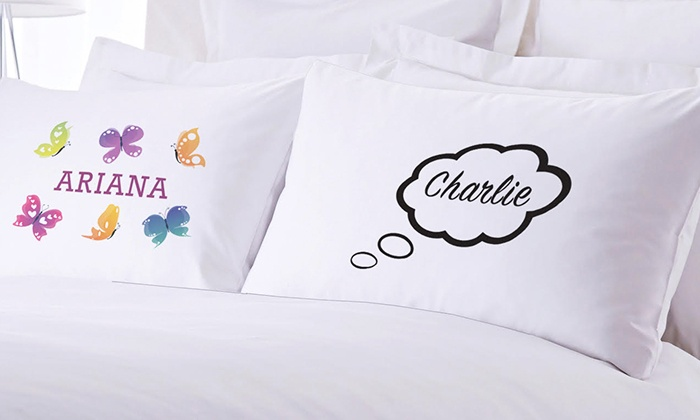 Monogram Online: One or Two Personalized Kid's Pillowcases from Monogram Online (Up to 83% Off)