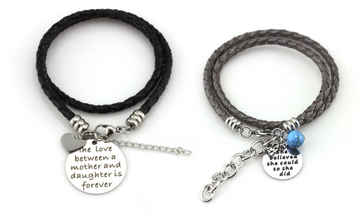 Balla Bracelets: $15 for a Leather Wrap Bracelet with Sentimental Charm from Balla Bracelets ($109.99 Value)