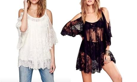 1 o 2 vestidos de encaje Balotti transparentes disponibles en color negro o blanco