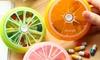 Piluliers en forme de fruits