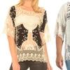Women's Contemporary Cotton Crochet Tops