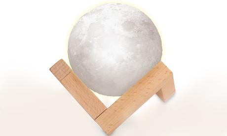 1 o 2 lámparas LED táctil con forma de luna