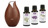 GROUPON: Now Foods Ultrasonic Faux-Wood Grain Oi... Now Foods Ultrasonic Faux-Wood Grain Oil Diffuser with Relaxing Oil Blends