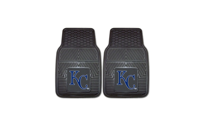 Up To 28 Off On Mlb Vinyl Car Mats Set Of 2 Groupon Goods