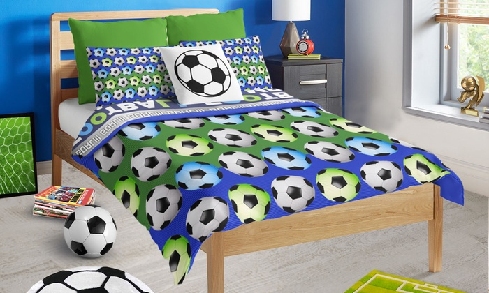 parure de lit football groupon. Black Bedroom Furniture Sets. Home Design Ideas