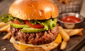 Camerons Club and Lounge: Choice of Burger with Chips for Two or Four at Camerons Club and Lounge (Up to 40% Off)