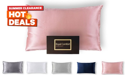 Royal Comfort Pure DualSided Mulberry Silk Pillowcases in a Choice of Colour: One $32 or Two $59