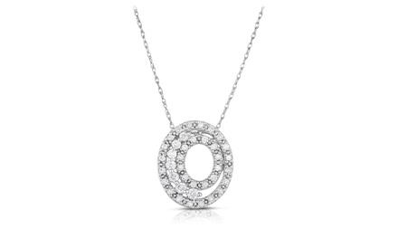 1/2 CTTW Diamond Pendant in 10K White Gold