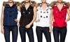 Women's Quilted Faux Fur Vest: Women's Quilted Faux Fur Vest