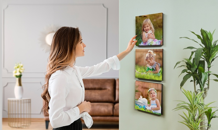 Up to Nine 6'' x 6'' Personalised Photo Tiles from PrinterPix (Up to 87% Off)