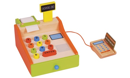 Lelin Kids Wooden Cash Register