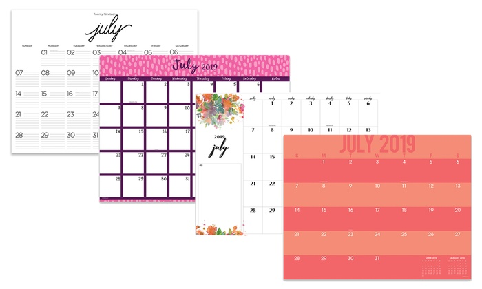 Calendar June 2020.Up To 28 Off On 22 X17 Desk Pad Calendar Groupon Goods
