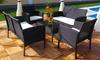 Groupon Goods Global GmbH: Juego de mesa, sofá y sillones para jardín efecto ratán desde 189 €
