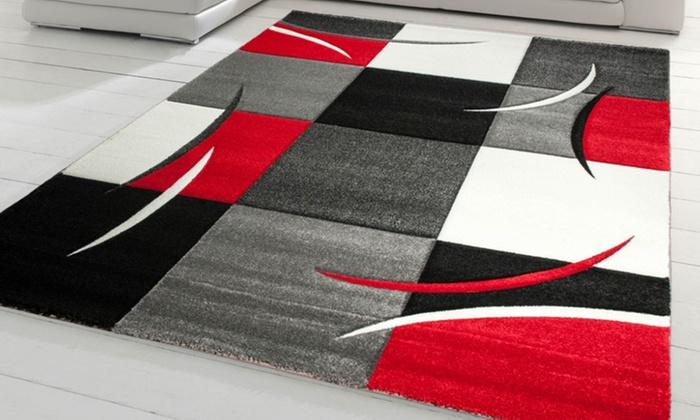 jusqu 39 71 tapis graphique diamond groupon. Black Bedroom Furniture Sets. Home Design Ideas