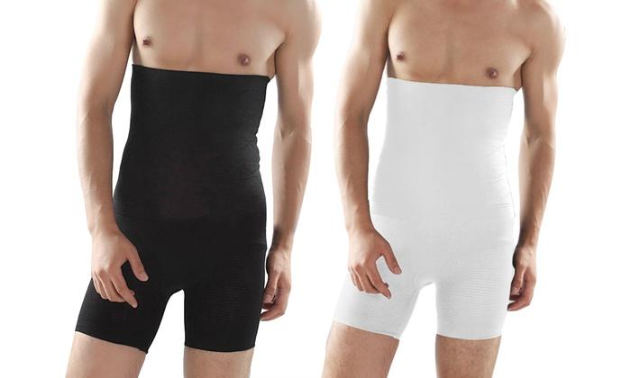 Men's High-Waist Compression Shaper Shorts (2-Pack)