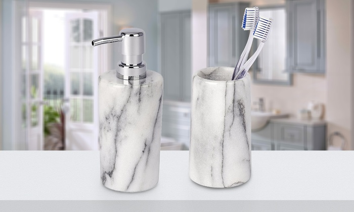 Set da bagno design ceramica bianca spirit miliboo