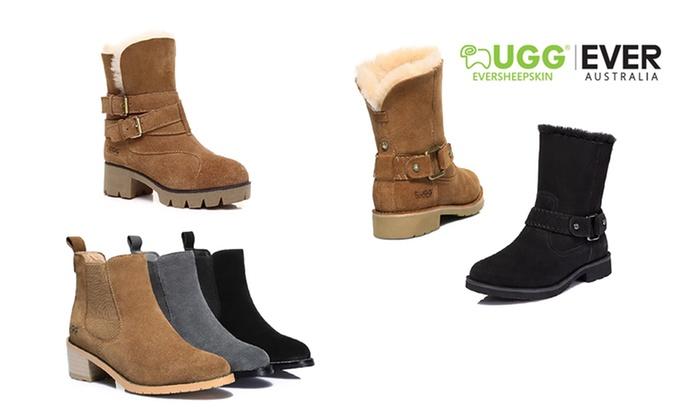 c82577f0cf3 Ever Women's Genuine Leather UGGs | Groupon Goods