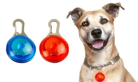 One, Two or Three Flashing LED Dog Safety Pendants