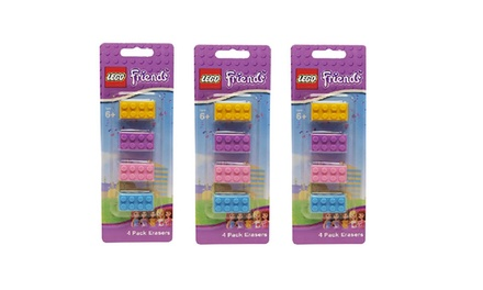 4, 12 or 24 LEGO Friends Pencil Erasers