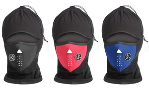 Fleece Full-Cover Cold Weather Mask and Hat - 2 Pack