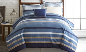 Printed Reversible Complete Bed Set (6- or 8-Piece)