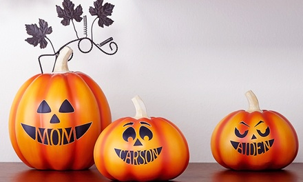 Small or Large Design Your Own Pumpkin Decoration from Personal Creations