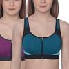 Champion Women's High-Support Zip-Up Sports Bra