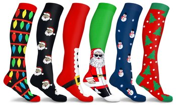 DCF Holiday Cheer Knee High Compression Socks (3 Pairs)
