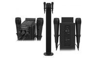 Torre de sonido Sunstech con bluetooth, 2 micrófonos y función Karaoke (envío gratuito)