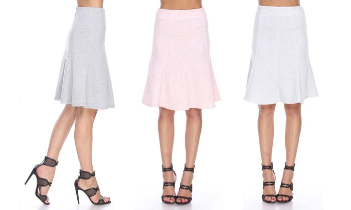 Juniors' A-line Flared Skirt   Groupon Goods