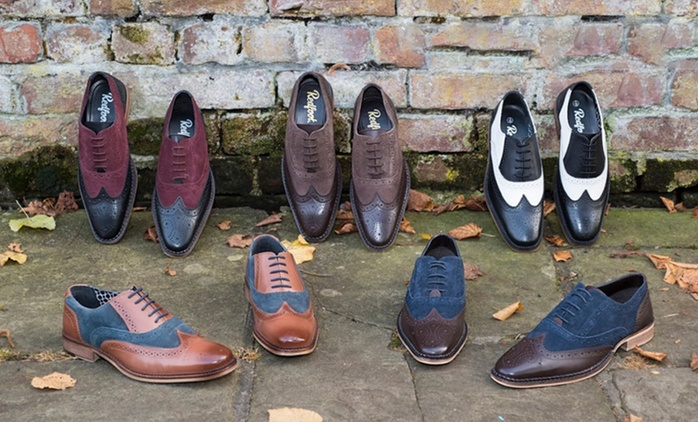 Men's Leather Gatsby Brogue Shoes for £29.99 With Free Delivery (84% Off)
