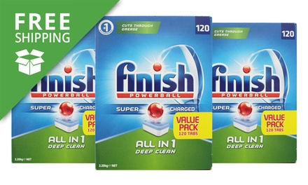 Free Shipping: $69 Finish AllinOne Powerball Deep Clean Dishwasher Tablets