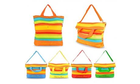 Bolsa de playa a rayas