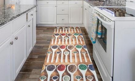 Passatoia per cucina con fondo antiscivolo disponibile in varie dimensioni e 4 fantasie