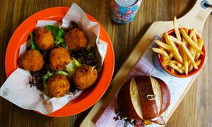 Burger Knights at The Quills: Burger and Beer or Soft Drink for Two or Four at Burger Knights at The Quills (Up to 59% Off)